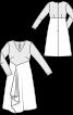 Сукня з вузьким ліфом і V-подібним вирізом - фото 3