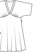 Сукня широкого крою з поясом обі - фото 3