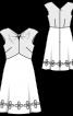 Сукня із завищеною талією і V-подібним вирізом - фото 3