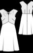 Сукня з драпіровкою біля горловини - фото 3
