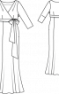 Сукня вечірня силуету ампір - фото 3
