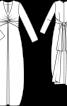 Сукня максі з глибоким вирізом - фото 3