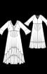 Сукня силуету ампір з оборками і воланом  - фото 3