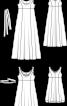 Сукня максі атласна силуету ампір - фото 3