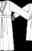 Сукня атласна силуету ампір - фото 3