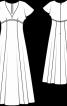 Сукня силуету ампір з рукавами-крильцями - фото 3