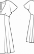 Сукня із завищеною талією і глибоким вирізом - фото 3