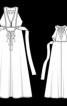 Довга сукня з пластроном - фото 3