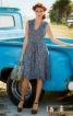 Квітчаста сукня з зав'язками навколо талії - фото 1
