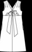 Сукня силуету ампір з діагональними виточками - фото 3