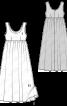 Сукня двошарова силуету ампір - фото 3