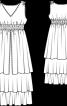 Сукня зі спідницею з ярусами - фото 3