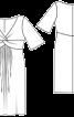 Сукня з глибоким декольте і драпіровками на ліфі - фото 3