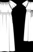 Максі-сукня з рукавами реглан - фото 3
