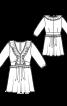 Сукня коротка силуету ампір з оборками - фото 3