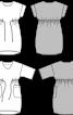 Сукня вільного крою з куліскою на талії - фото 3