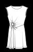 Сукня трикотажна з декоративним вирізом - фото 3