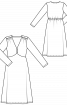 Сукня трикотажна з фігурним ліфом - фото 3