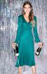 Сукня трикотажна з фігурним ліфом - фото 1