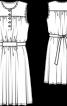 Сукня трикотажна зі зборками - фото 3
