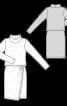 Сукня відрізна трикотажна з довгими рукавами - фото 3