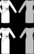 Сукня-футляр трикотажна з вирізом-гойдалки - фото 3