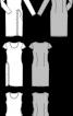 Сукня трикотажна з короткими рукавами і драпіровкою - фото 3