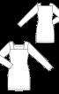 Сукня трикотажна з вирізом каре - фото 3