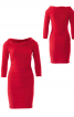 Сукня трикотажна з коміром-хомутом - фото 2