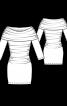 Сукня трикотажна з коміром-хомутом - фото 3