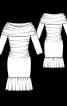 Сукня трикотажна з пишною оборкою - фото 3