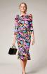 Сукня трикотажна з пишною оборкою - фото 1