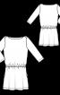 Трикотажна сукня з рукавами 3/4 - фото 3