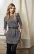 Трикотажна сукня з рукавами 3/4 - фото 1