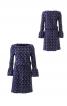 Трикотажна сукня з вирізом човником - фото 2