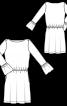 Трикотажна сукня з вирізом човником - фото 3