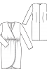 Сукня трикотажна з ефектом запаху - фото 3