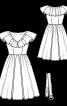 Сукня в стилі ретро з Burda 6/1954 - фото 3