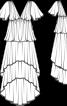 Сукня вечірня із багатошаровою спідницею - фото 3