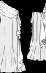 Сукня вечірня з бретеллю на одне плече - фото 3