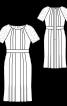 Сукня з рельєфними швами для нареченої - фото 3