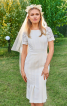 Сукня з рельєфними швами для нареченої - фото 1