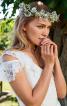 Сукня мереживна з воланами для нареченої - фото 4