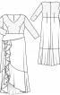 Сукня з воланами для нареченої - фото 3