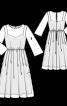 Сукня двошарова з вишитого тюлю - фото 3