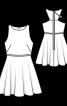 Сукня відрізна зі спідницею-сонце - фото 3