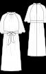 Платье с воротником-стойкой и пояском - фото 3