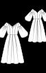 Сукня з пишними рукавами і спідницею в складки - фото 3
