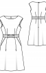 Сукня відрізна з вирізом-човником - фото 3