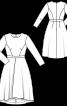Сукня відрізна з асиметричною спідницею - фото 3